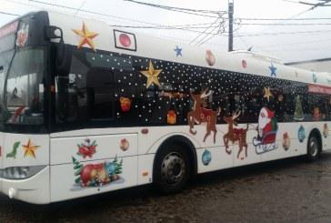 Baia Mare: Copiii mai au la dispozitie doua zile sa se plimbe cu Autobuzul Mosului
