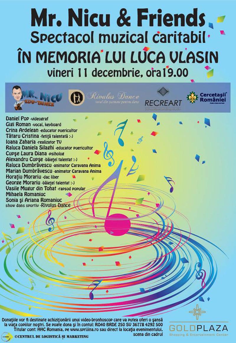 concert copii memoria lui luca gold plaza baia mare