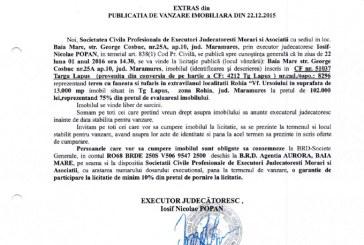 Vanzare teren in Targu Lapus, zona Rohia – Extras publicatie vanzare imobiliara, din data de 22. 12. 2015
