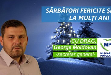 "George Moldovan:  ""Nasterea Domnului sa va lumineze inimile si casa"""