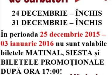 Program special de Sarbatori, la AquaStar Satu Mare