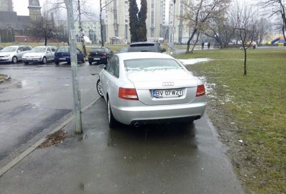 Proiect de lege: Parcarea pe trotuare, interzisa daca nu se pastreaza un culoar de minim doi metri pentru pietoni