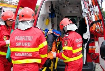 Astazi: Accident la Grosi. Victima a fost preluata de SMURD si transportata la spital