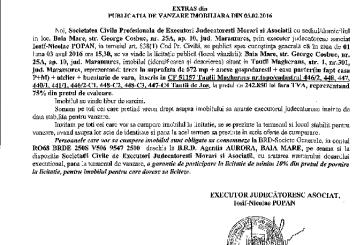 Vanzare casa si teren in Tautii Magheraus – Extras publicatie vanzare imobiliara, din data de 03. 02. 2016