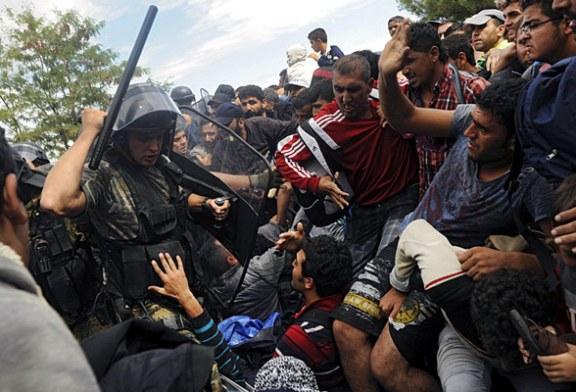 Imigrantii au incercat sa forteze granita dintre Grecia si Macedonia