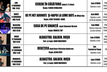 Vezi programul spectacolelor de la Teatrul Municipal Baia Mare in perioada 8-14 februarie