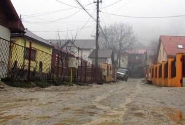 Cum arata o strada din Baia Mare cand ploua sau se topeste zapada (FOTO)