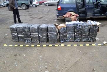 Autoturism indisponibilizat si 5.907 pachete cu tigari confiscate de politistii din Viseu de Sus