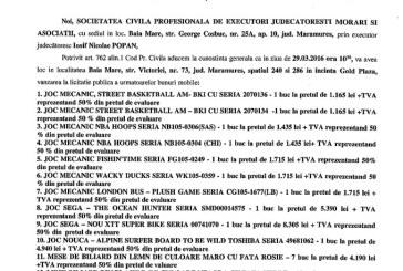 Vanzare diferite bunuri – Extras publicatie vanzare mobiliara, din data de 10. 03. 2016