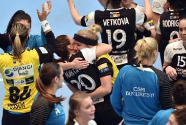Handbal feminin: CSM Bucuresti, victorie la limita cu Rostov (26-25), in sferturile Ligii Campionilor