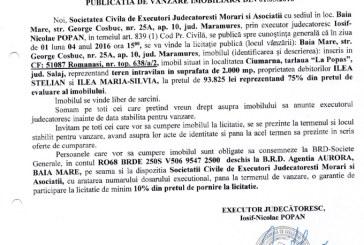 Vanzare teren intravilan in Ciumarna, judetul Salaj – Extras publicatie vanzare imobiliara, din data de 01. 03. 2016