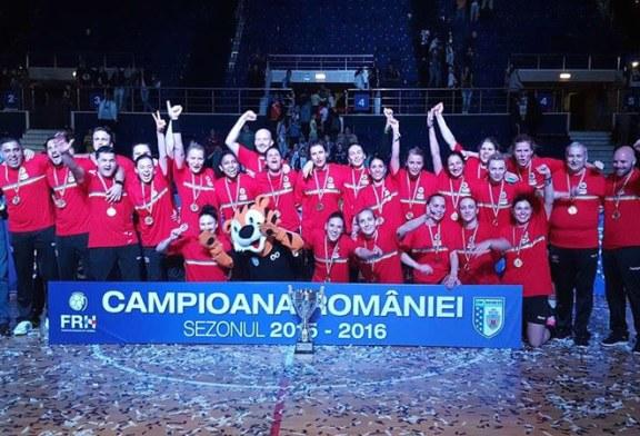 Handbal feminin: CSM Bucuresti a cucerit al doilea sau titlu de campioana nationala