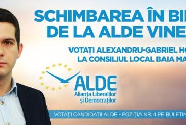 """Alexandru Hoban, candidat ALDE pentru Consiliul Local Baia Mare: """"Tinerii trebuie sprijiniti sa porneasca afaceri pe cont propriu"""""""