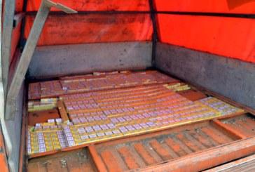 Contrabanda: Politistii de frontiera maramureseni au confiscat aproape 12.000 de pachete cu tigari