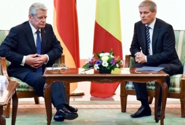 Premierul Ciolos a discutat cu presedintele german despre oportunitatile de investitii in Romania