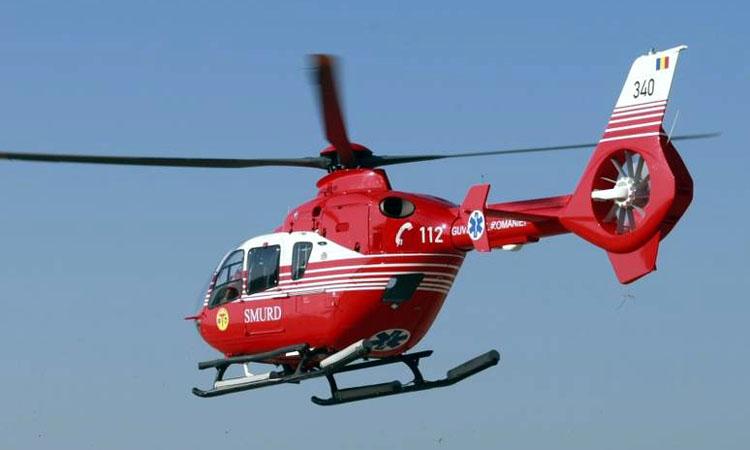 Satmarean, in stare critica, transportat cu elicopterul la Spitalul Judetean Baia Mare