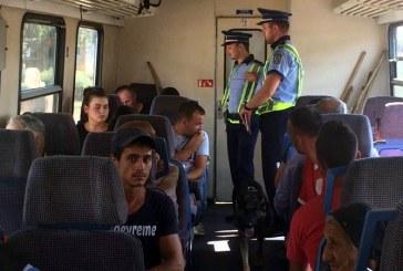 Controale in trenurile din Maramures: 61 de persoane depistate fara documente de calatorie