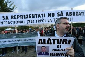 Bucuresti: Protest impotriva votului in cazul Oprea
