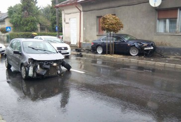 De la cititori: Accident spectaculos in Baia Mare (FOTO)