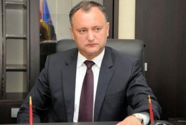 Igor Dodon: Republica Moldova va plati cu 10-15 dolari mai putin pentru gazele rusesti, de la 1 octombrie