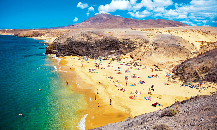 Spain, Canary Islands, Lanzarote Island, Playa Blanca, Playa del