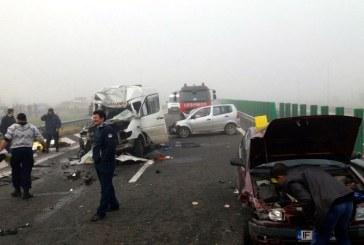 Accident pe A2: Patru morti si peste 50 de raniti; cel putin 29 de autovehicule implicate