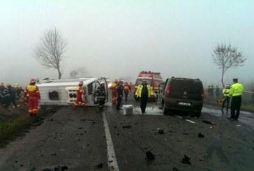 18 victime, dintre care trei sunt decedate, dupa accidentul rutier de pe DN 2