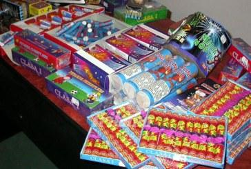 Petarde si artificii confiscate la Borsa