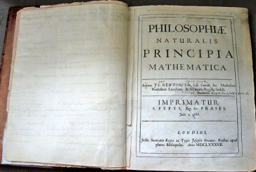 Un exemplar al Principia Mathematica a lui Isaac Newton, vandut pentru 3,7 milioane de dolari