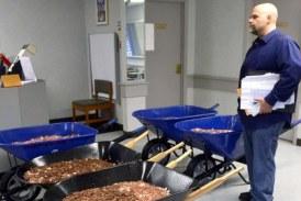 Un american a platit o taxa la stat cu aproape 300.000 de monede aduse in cinci roabe