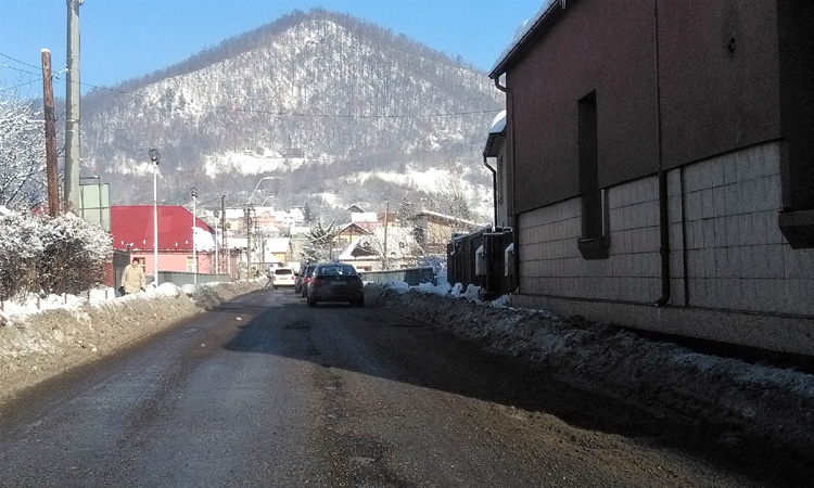 Maramures: Circulatie rutiera in conditii de iarna
