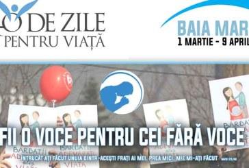"""""""40 de Zile pentru Viata"""" in Baia Mare: Campanie de post, rugaciune si veghe pasnica"""
