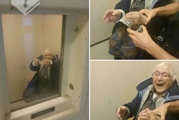 O femeie de 99 de ani din Olanda si-a indeplinit visul de a fi arestata