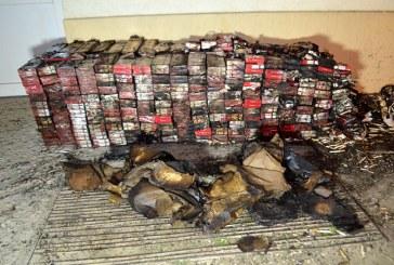 Contrabanda in Maramures: Au dat foc anexei unde erau depozitate tigarile