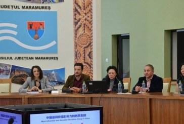 20 de oameni de afaceri din Maramures s-au intalnit cu o delegatie din China la Consiliul Judetean