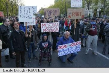 Protest la Budapesta impotriva cresterii influentei Rusiei in Ungaria