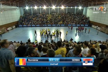 Handbal masculin: Romania, invinsa in ultima secunda de Serbia, in preliminariile EURO 2018 (VIDEO)