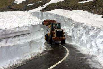 Drumarii au inceput deszapezirea Transfagarasanului; zapada depaseste cinci metri inaltime in unele zone