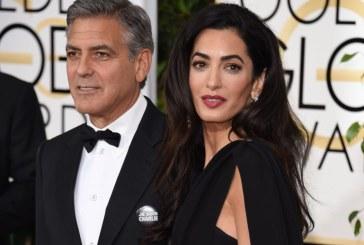 Sotia lui George Clooney a nascut gemeni