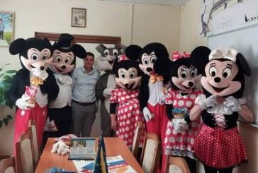 Galerie foto: Copiii din Cavnic au fost rasfatati, de 1 iunie, de mascotele Disneyland