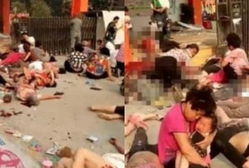 (Foto)Opt morti dupa o explozie in apropierea unei gradinite in China, posibil un act criminal
