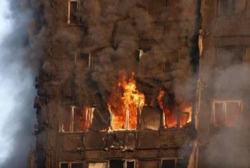 (Foto)Marea Britanie: Un incendiu urias a cuprins un bloc de locuinte cu 30 de etaje din Londra