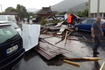 Furtuna a facut prapad si in parcarea de la URBIS (FOTO)