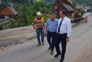 Prefectul Sebastian Mihai Luput a verificat stadiul lucrarilor pe DN18- tronsonul Borsa- Prislop