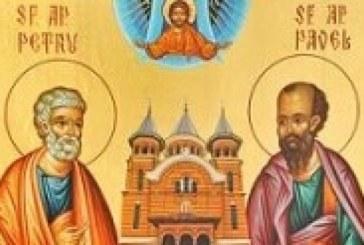 Maine, crestinii sarbatoresc pe Sfintii Apostoli Petru si Pavel