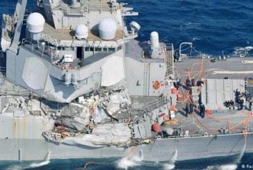 Operatiunile de cautare a marinarilor americani disparuti dupa coliziunea din largul coastelor Japoniei au luat sfarsit