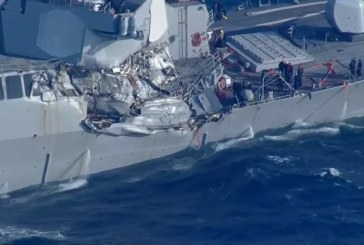 (Foto)Coliziune maritima in Japonia: Sapte marinari americani dati disparuti
