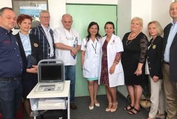Ecograf modern donat Spitalului Judetean de catre Rotary Club 2005 Baia Mare