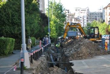 BAIA MARE: Lucrari de inlocuire a retelei de apa si de canalizare pluviala pe strada Culturii