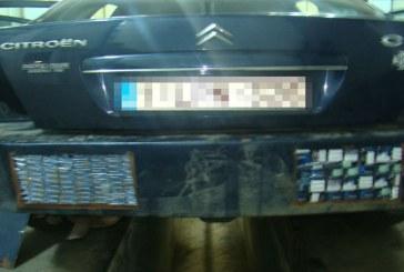 Un maramuresean fara permis de conducere a abandonat masina in trafic, cu tot cu tigari